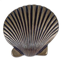Clamshell Knob 2 Inch - Burnished Bronze
