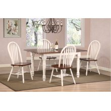 DLU-TLB3660-820-AW5PC  Andrews 5 Piece Butterfly Dining Set  Arrowback Chairs