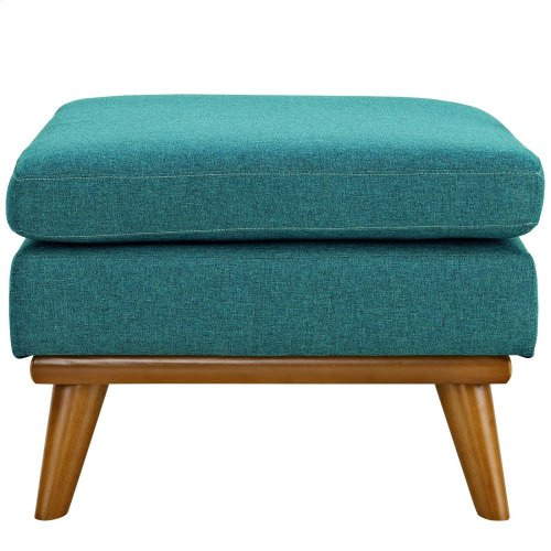 Engage Upholstered Fabric Ottoman in Teal