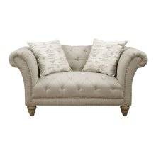 Loveseat Nailhead W- 2 Pillows Body Fv0014-7 Pillows Tolouse Platinum