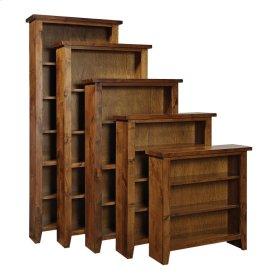 "Bookcase 74""H 1 fixed & 3 adj shelves"