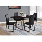 "DINING TABLE - 36""X 60"" / CAPPUCCINO / BLACK METAL Product Image"