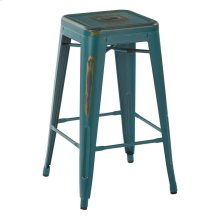 "Bristow 26"" Antique Metal Barstool, Antique Tourquoise, 4 Pack"