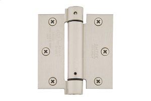 "3-1/2"" x 3-1/2"" Square Corners Spring Hinges, Plated Steel Product Image"