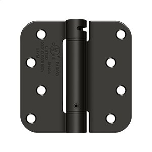 "4""x 4""x 5/8"" Spring Hinge, UL Listed - Oil-rubbed Bronze Product Image"