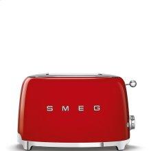 Smeg 50s Retro Style Design Aesthetic 2 Slice Toaster, Red