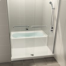 AQUAZONE - Shower and bath space-saving wet zone