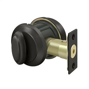 Solid Brass Port Royal Deadbolt Lock Grade 2 - Oil-rubbed Bronze Product Image
