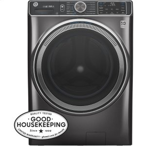 GE® 5.0 cu. ft. Capacity Smart Front Load ENERGY STAR® Steam Washer with SmartDispense™ UltraFresh Vent System with OdorBlock™ Product Image