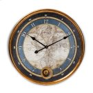Baxton Studio Clotaire Vintage Style Antique Gold Finished Map Wall Clock Product Image