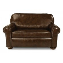 Preston Leather Twin Sleeper with Nailhead Trim