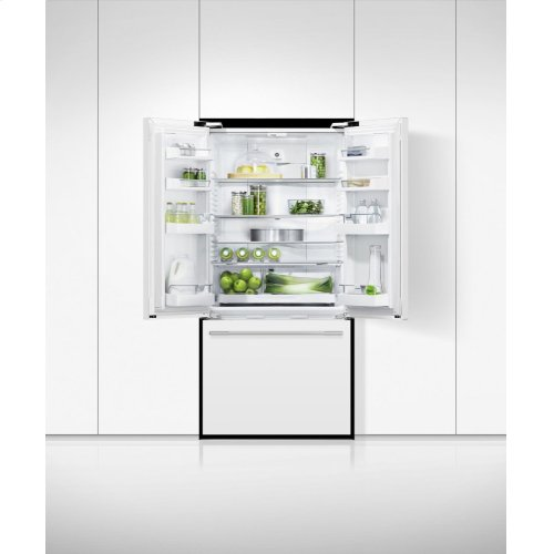 """Freestanding French Door Refrigerator Freezer, 32"""", 17 cu ft"""