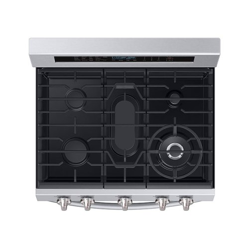 5.8 cu. ft. Freestanding Gas Range with True Convection and Steam Reheat in Stainless Steel