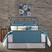 Queen Metal Bed - Blue Product Image