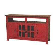 Red Hacienda TV Stand