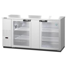 HBB-3G-LD-69-S, Refrigerator, Two Section, Stainless Steel Back Bar Back Bar, Glass Doors