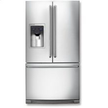 Counter-Depth French Door Refrigerator with IQ-Touch Controls.  (This is a Stock Photo, actual unit (s) appearance may contain cosmetic blemishes.  Please call store if you would like actual pictures).  This unit carries our 6 month warranty, MANUFACTURER WARRANTY and REBATE NOT VALID with this item. ISI 34090