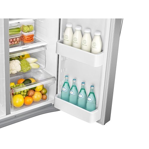 25 cu. ft. Side-by-Side Refrigerator with LED Lighting in Stainless Steel