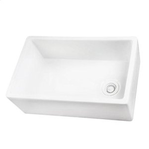 FS30 Single Bowl Fireclay Farmer Sink - White Product Image