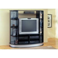 TV STAND - BLACK ENTERTAINMENT CENTER