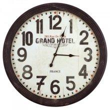 Circular wall clock with glass
