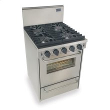 "24"" All Gas Convection Range, Sealed Burners, Stainless Steel"