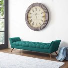 Response Upholstered Fabric Bench in Teal Product Image