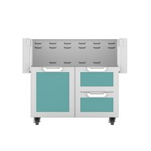 "36"" Hestan Outdoor Tower Cart with Door/Drawer Combo - GCR Series - Bora-bora"