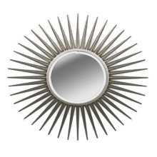 Sunburst Silver Round Mirror by Ultimate Accents