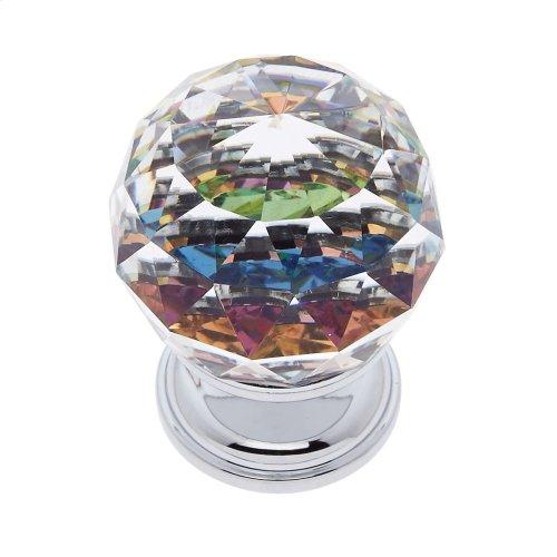 Polished Chrome 30 mm Round Prism Knob