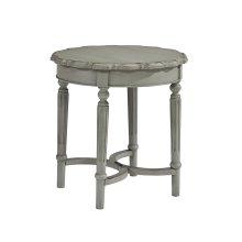 Dove Grey Pie Crust Side Table - Short