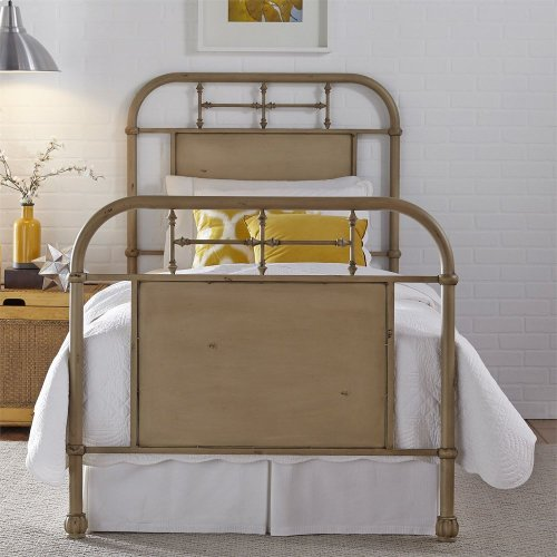 Full Metal Bed - Vintage Cream