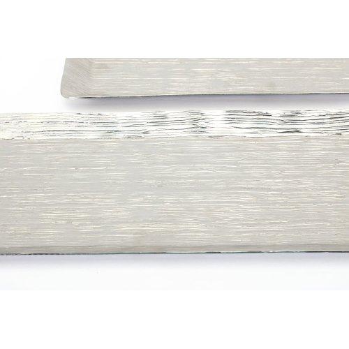 Talia Silver Finish Aluminum Trays - Set of 2