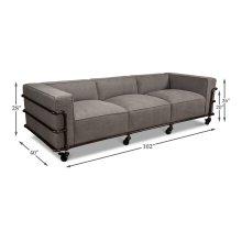 Belgium Industrial Grey Canvas Sofa