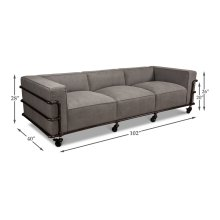 Belgium Industrial Grey Canvas Sofa