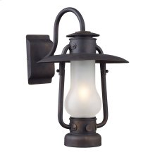 Stagecoach 1-Light Wall Lamp in Matte Black with Lantern-style Shade