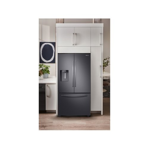 23 cu. ft. Counter Depth 3-Door French Door Refrigerator with CoolSelect Pantry in Black Stainless Steel