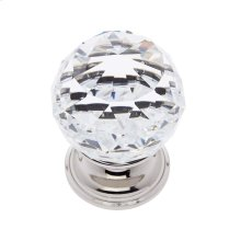 Polished Nickel 40 mm Round Faceted Knob