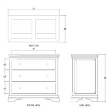 Homestead Large 3 Drawer Dresser