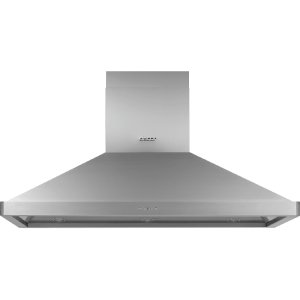"""Heritage 54"""" Chimney Island Hood, Silver Stainless Steel Product Image"""
