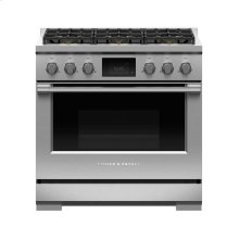 "Dual Fuel Range, 36"", 6 Burners, LPG"