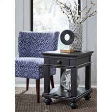 Chairside Table (Available in Whiskey Brown or Peppercorn Grey Finish)