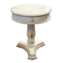 Dist Cream Round Phone Table