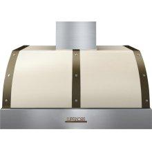 Hood DECO 36'' Cream matte, Bronze 1 blower, electronic buttons control, baffle filters