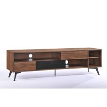 Modrest Garrison Modern Walnut & Black TV Stand