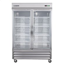 GLASS DOOR REACH-IN REFRIGERATION (6 SHELVES)