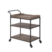 Emerald Home Wheeler Bar Cart Reclaimed Wood, Ac426-07