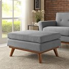 Engage Upholstered Fabric Ottoman in Expectation Gray Product Image