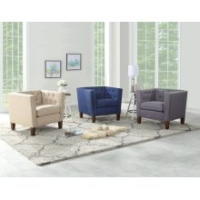"Campbell Accent Chair - Blue 35"" x 30"" x 30"""