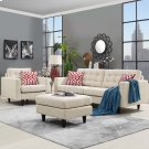 Empress Armchair and Sofa Set of 2 in Beige Product Image